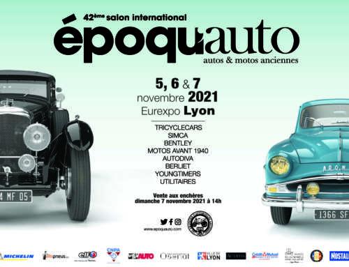 J-1 mois avant EPOQU'AUTO : 5, 6 et 7 novembre prochains au parc des expositions Eurexpo !